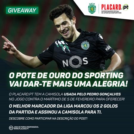 Giveaway - camisola vem assinada pelo Pedro Gonçalves!